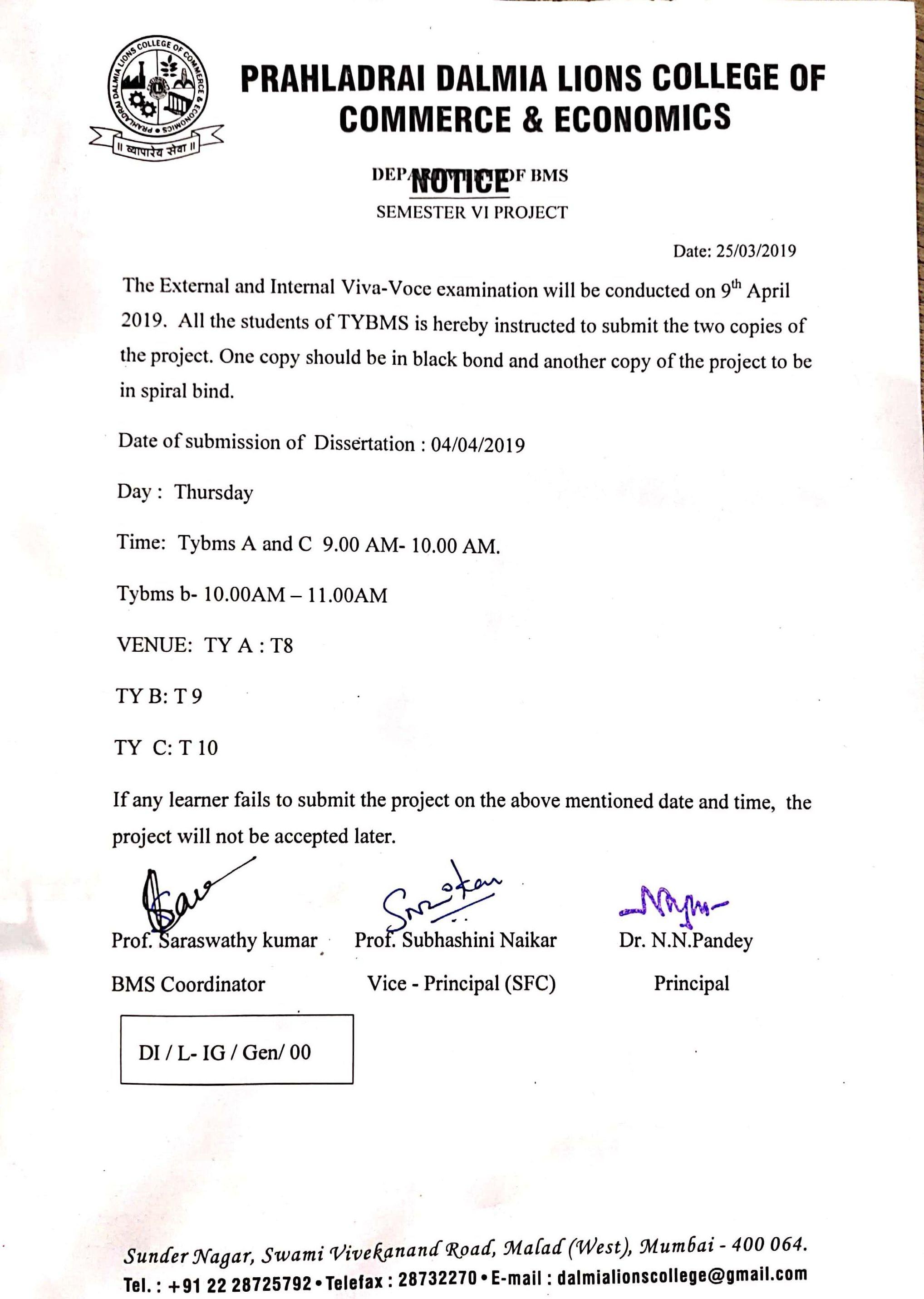 Tybcom Sem 6 Rechaking Result 2018